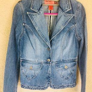Mossimo faded jean denim Blazer jacket small